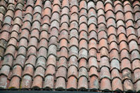Old roof with shingles