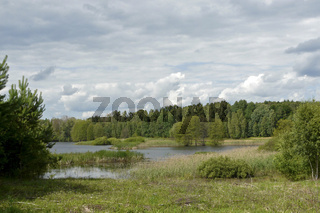 Landschaft am Briesensee in Pommern