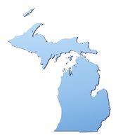 Michigan(USA) map