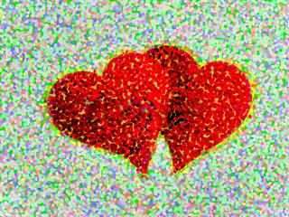 Rotes Doppel Herz, Valentinstag