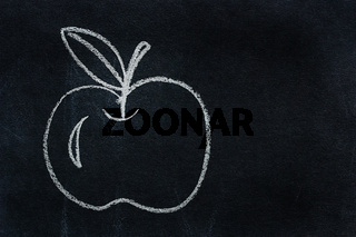 Symbol written in white chalk