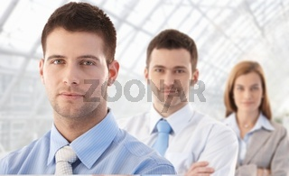 Portrait of young businessteam smiling