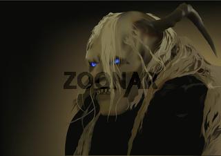 Satan with Blue Shining Eyes