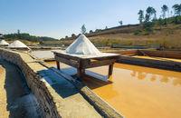 Production of Salt by Evaporation Saline