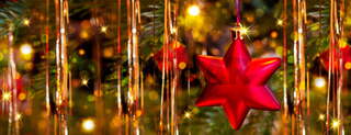 Christmas background with red Star .
