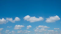 clouds on blue sky panorama with copy space - cloudscape, cloudy sky