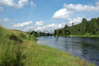 View of Onega river bend near Kargopol