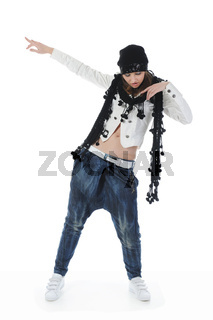 Young woman dancing hip-hop