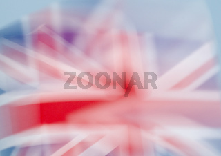 blurred British flag
