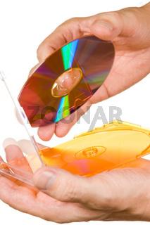 CD box in hand