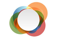Abstract shiny colorful circles background