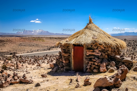 Small hut in the Peruvian countryside
