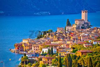 Town of Malcesine on Lago di Garda skyline view