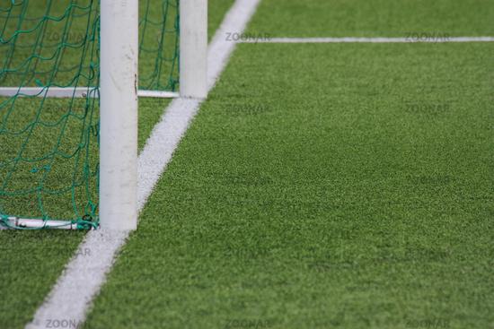 Soccer goal cut & blur, diagonally