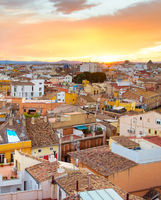 Valencia top view, Spain
