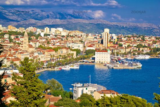 Fabulous Split waterfront aerial panorama