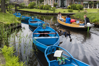 Blue Electric Punter Boats Giethoorn