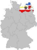 Mecklemburg-Vorpommern auf Deutschland