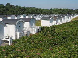 Strandhütten in Skanör Kämpige, Ostsee, Schweden