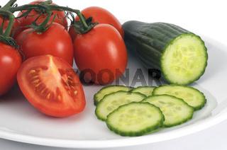 Tomaten, Gurken