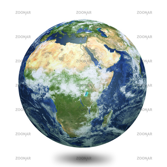 Earth globe 3d render