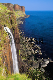 Waterfall and coastline at Kilt Rock, Isle of Skye, Scotland