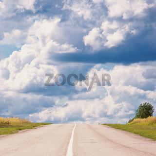 Vanishing rural road