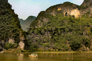 Landscape in tam coc, dry halong bay in vietnam