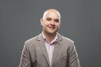 Portrait of caucasian bald man