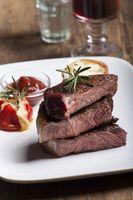 Gegrilltes Steak in Scheiben geschnitten