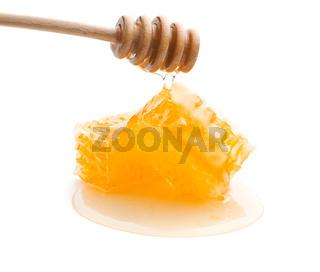 Fresh honey with honeycomb.