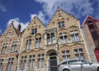 Hausfassaden in Antwerpen, Belgien