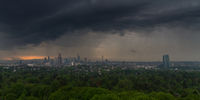 Thunderstorm over the city of Frankfurt am Main