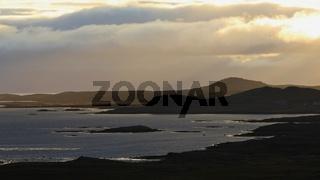 Sunrise in the westfjords of Iceland.