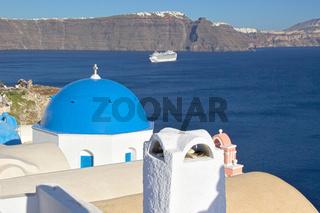 Greece Santorini View Across The Bay