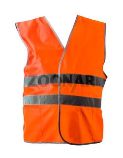 Orange construction jacket