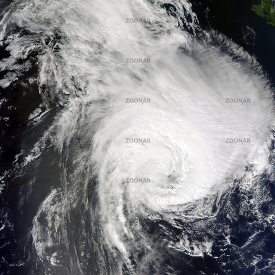 Hurricane viewed from space. Elements of this image are furnished by NASA.