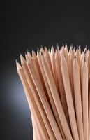 Bunch of pencils isolated on black