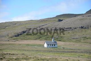 Kapelle am Breidafjördur auf Island
