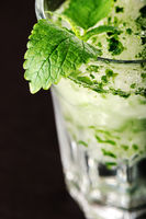 Mojito cocktail on a dark