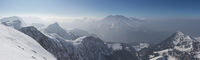 Panorama Hagen range with Mt. Watzmann
