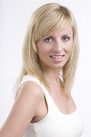 Portrait of beautiful casual blonde young woman