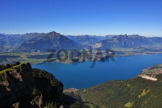 View from Mt Niederhorn towards Spiez