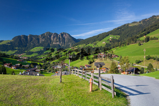 the Village of Inneralpbach in Alpbach Valley,Austria