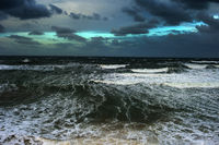 Strom ocean clouds wave danger