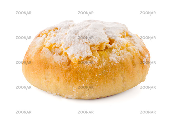 Traditional Portuguese coconut pastry called Pao de Deus