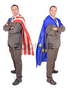 Men with flags