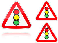Variants a Traffic light control road sign