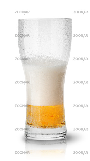 Few beer in sweaty glass