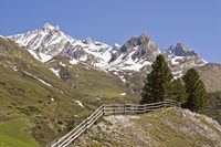 Dream landscape in the Ahrn valley in South Tyrol